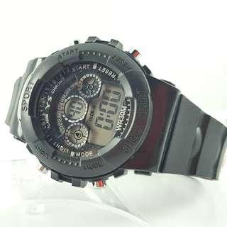 Jam tangan pria digital all black