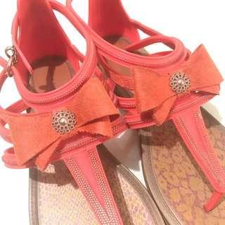 Gisele Bundchen Orange Sandal