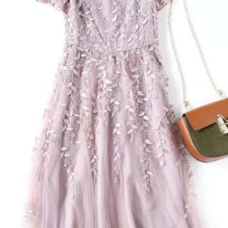 BNWT dusty pink dress gown size M