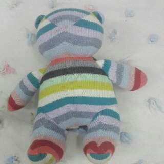 Holiday Striped Brannan Teddy Bear