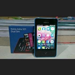 Nokia Asha 501 Cyan