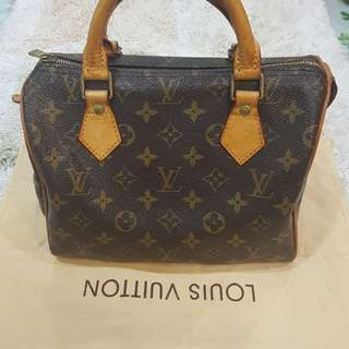 Original Authentic LV Speedy 25 Leather MADE IN FRANCE