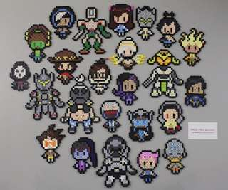 Hama beads design overwatch all characters