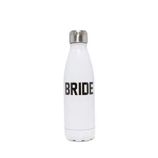 🚚 Private party 不銹鋼水壺 水瓶 全新正品 購於國外 英文字樣 bride 黑 白 桃紅