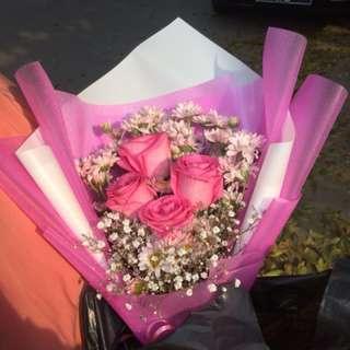 Bouquet bunga hidup