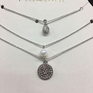 Primark silver necklace set (2)