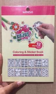 Coloring&stiker book miniso