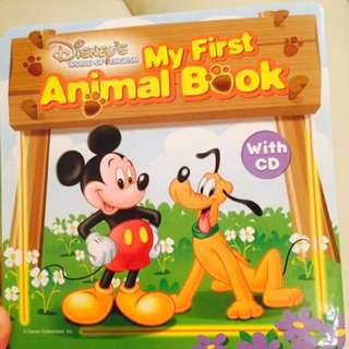 My First Animal Book Disney's World of English With CD 學習書 幼兒書