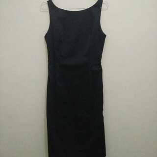 Dress Body Con (Hitam) Fit to S