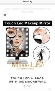 👣 TOUCH LED MIRROR WITH 10X MAGNIFYING