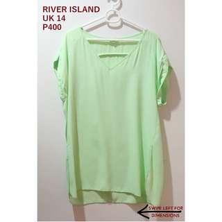 River Island Apple Green Top