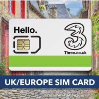 30 Days UK + Europe SIM Card 71 Countries