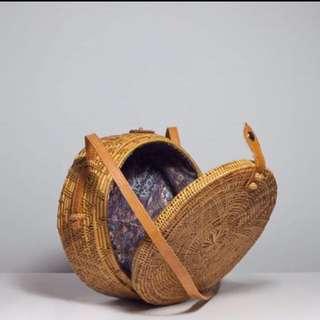 Rattan Bag Round Cross body