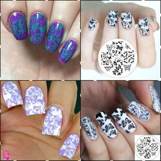 1 Pc BORN PRETTY BP74 Various Butterfly Design Nail Art Stamping Template Image Nail Stamp Plate