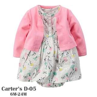 Carter's 2-Piece Babysoft Bodysuit Dress + Cardigan Set