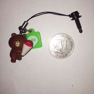 Line Friends Brown Earphone Jack Plug