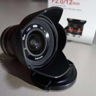 Samyang 12mm F/2.0 e-mount
