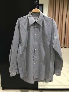 Van Heusen 100% Cotton Grey Shirt (Size 17/XL)
