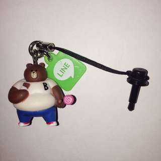 Line Friends Fat Brown Earphone Jack Plug