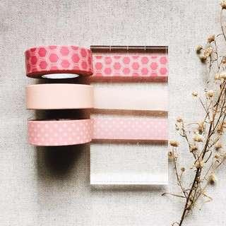 🌸SALE ! Pink Set (Washi Tape Sample - SOLD PER DESIGN)