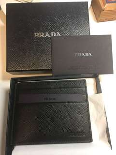 Prada leather cardholder 牛皮黑色卡包 2MC223