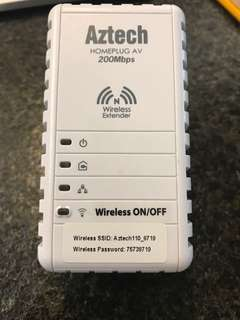 Aztech HL110EW HOMEPLUG(家用電力線網路電力網絡,200Mbps,WiFi,AV)