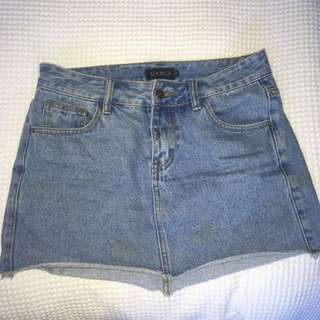 Cute denim mini skirt #denimfever