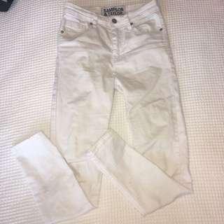 Sampson & Taylor white skinny jeans #denimfever