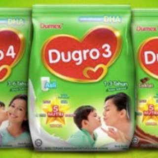 FREE DELIVERY Dumex Dupro Dugro 1 2 3 4 5 original chocolate honey 900g