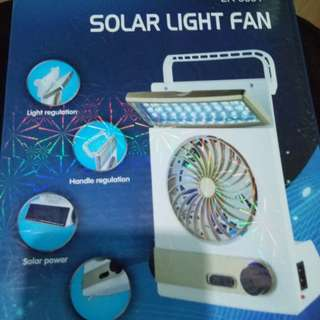 Solar Lightning Fan 3in1