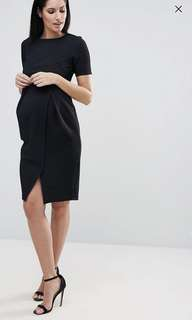Maternity Double Layer Textured Smart Dress