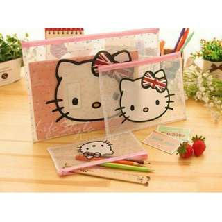 Hello K A4 File + Notes + Pencil Case (Zip Bags) ★★Pre-Order from Taiwan! ★★