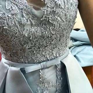Wedding Dress - Light Blue Lacey Design