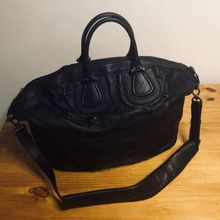 Givenchy Men's Black Nightingale Leather Holdall Bag