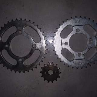 428 Sprockets rear size 36/38 and front 14