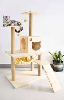 • (INSTOCK/Last 2) Scandinavian Wooden Cat House w/o stairs