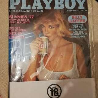 英文原版 PLAYBOY 1977.11