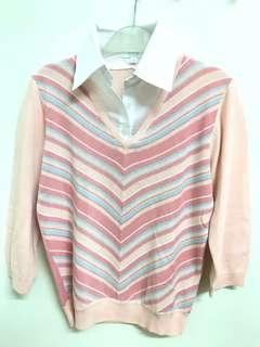 stripe pink shirt