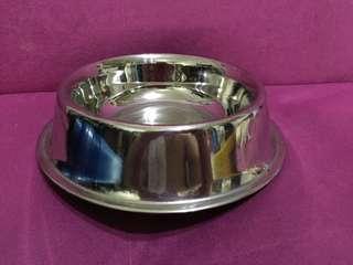 dog silver dish