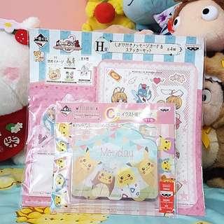 Cardcaptor Sakura or Pokemon Kuji Memo Pads