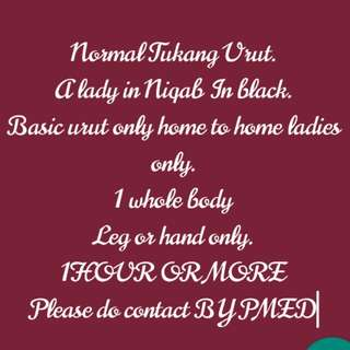 Lady in Niqab massage