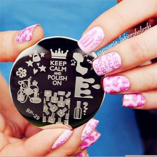 BORN PRETTY Nail Stamping Plates Geo Flower Queen Theme Nail Art Stamp Template Image Plate Set Manicure Stencil