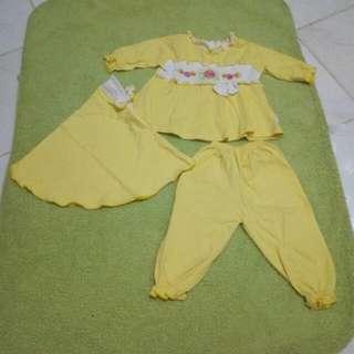 Baju Muslim Kuning #MakinTebel
