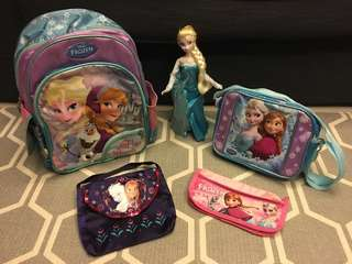Disney frozen Elsa & Anna bag wardrobe (backpack, sling bag, handbag, pencil case pouch etc)