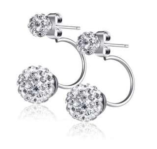 925 Sterling Silver Swarovski Element Crystal Stud Earrings- import from US