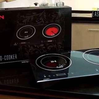 Onken Two Burner Easy Pro Induction Cooker (black)