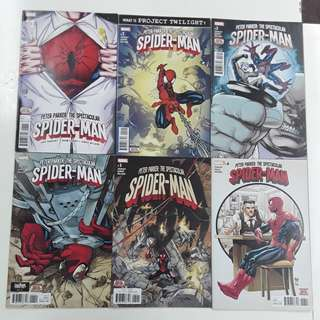 Peter Parker Spectacular Spider-Man (2017) Into Twilight Comics Set