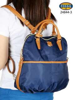 FOSSIL  Backpack Parasut Vs Smooth Leather multi Fungtion 24844-3*