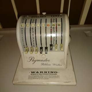PAYMASTER 8000 SERIES RIBBON WRITER MACHINE