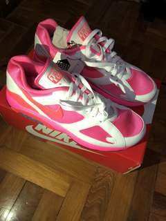 CDG Comme Des Garçons Air Max 180 White Pink Solar Red US Size 10.5